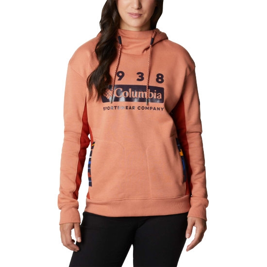 Columbia Lodge Hoodie W - Coral Red