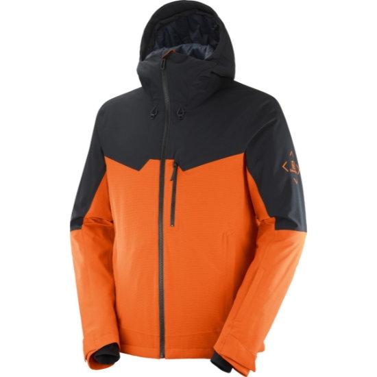 Salomon Untracked Jacket - Red Orange/Blk/Heather