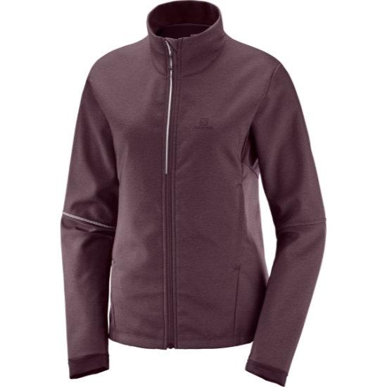 Salomon Agile Softshell Jacket W -  Winetastin/Heather