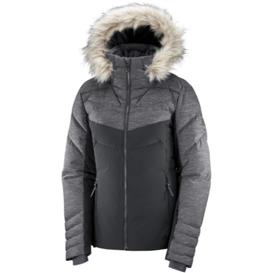 Salomon Warm Ambition Jacket W - Black/Black/Heather