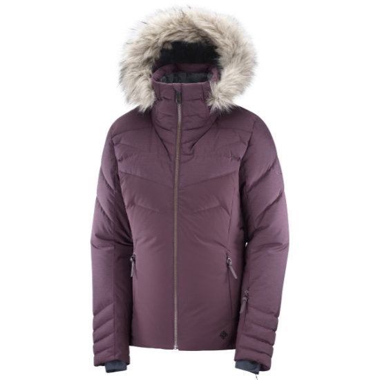 Salomon Warm Ambition Jacket W - Winetastin/Winetastin
