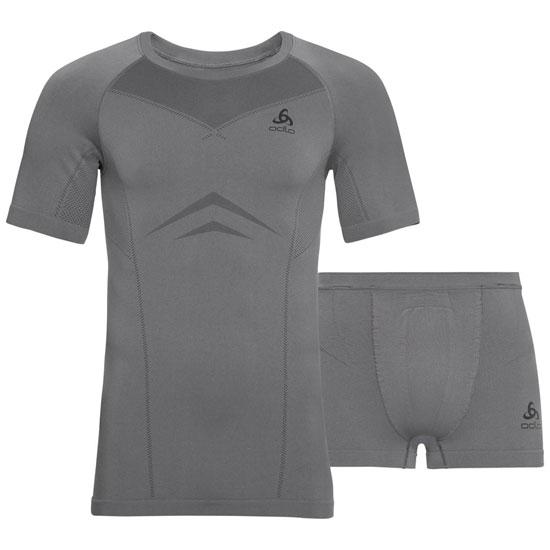 Odlo Performance Evolution Light Set - Odlo Steel Grey/Odlo Graphite Grey