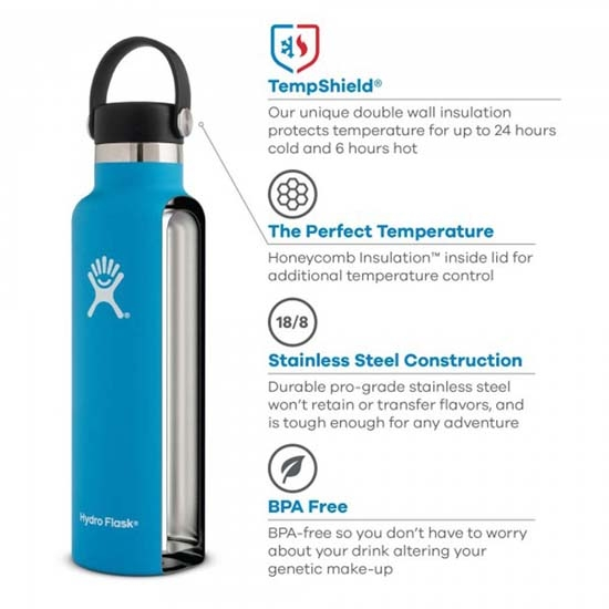 Hydro Flask 18oz Standard Mouth - Photo de détail