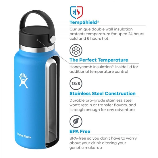 Hydro Flask 20Oz Wide Mouth W/Flex Cap 2.0 - Photo de détail
