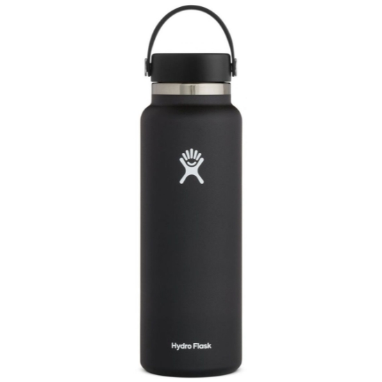 Hydro Flask 40Oz Wide Mouth W/Flex Cap 2.0 - Black