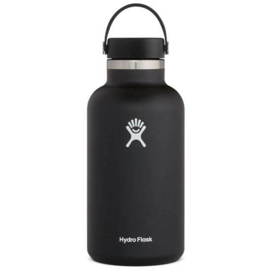 Hydro Flask 64Oz Wide Mouth W/Flex Cap 2.0 - Black