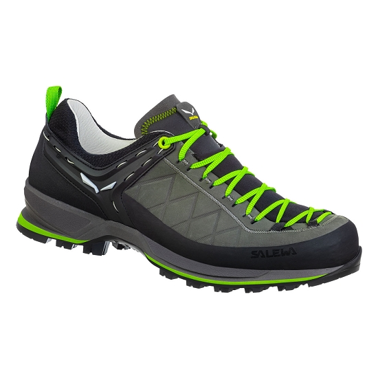 Salewa Mtn Trainer 2 Leather - Smoked/Fluo Green