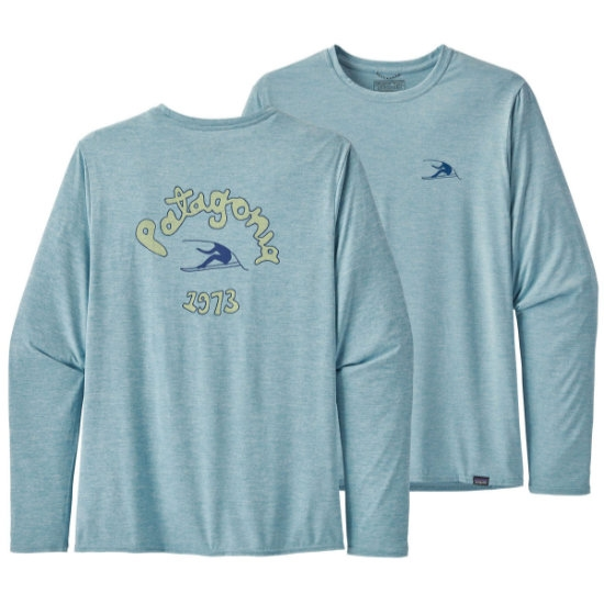 Patagonia Long-Sleeved Capilene® Cool Daily Graphic Shirt - Vision Mission/Big Sky Blue