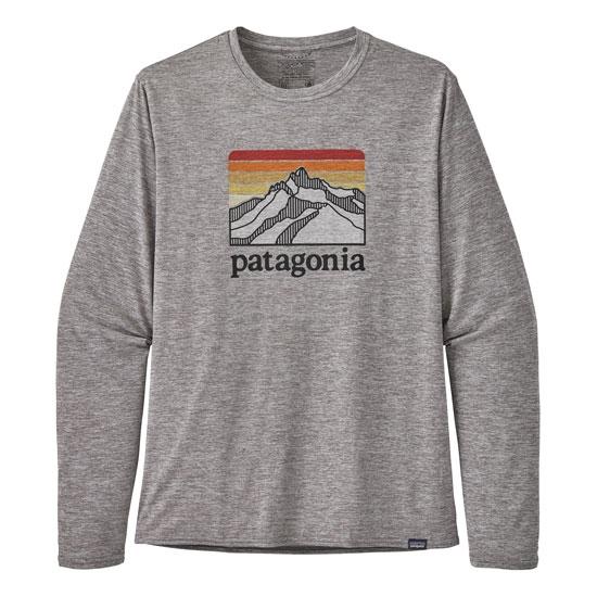 Patagonia L/S Cap Cool Daily Graphic Shirt - Line Logo Ridge: Feather Grey