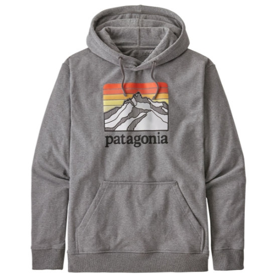 Patagonia Line Logo Ridge Uprisal Hoody - Gravel Heather