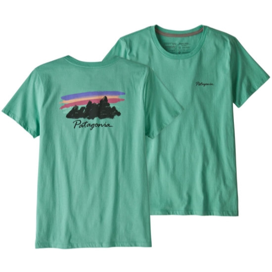 Patagonia Free Hand Fitz Roy Organic Cotton Crew T-Shirt - Light Beryl Green