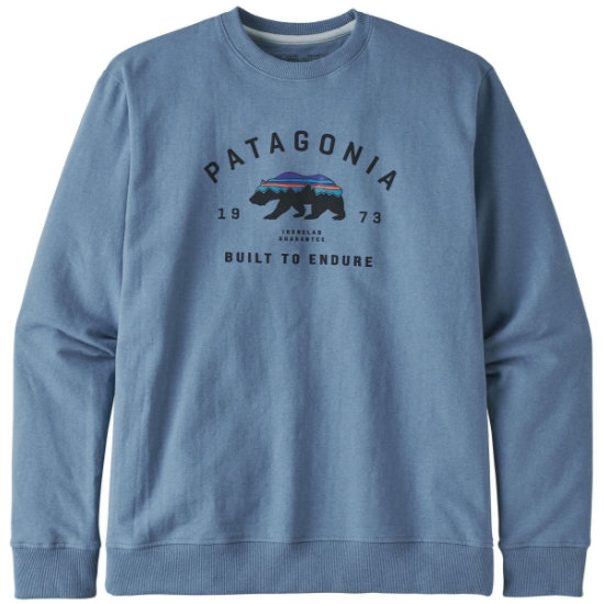 Patagonia Arched Fitz Roy Bear Uprisal Crew Sweatshirt - Pigeon Blue