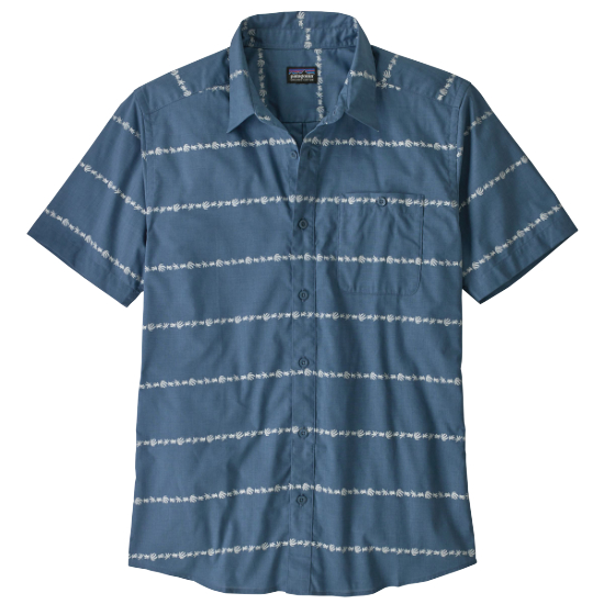 Patagonia Go To Shirt - Hemp Stripe: Pigeon Blue
