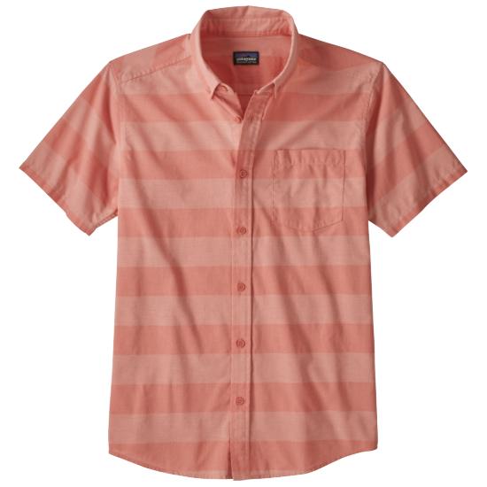 Patagonia Lightweight Bluffside Shirt - Boll Stripe: Mellow Melon