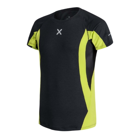 Montura Run Energy T-Shirt - Antracite/Verde Lime