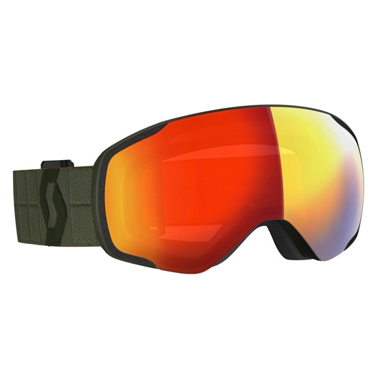 Scott Ski Vapor S2 - Kaki Green/Enhancer Red Chrome