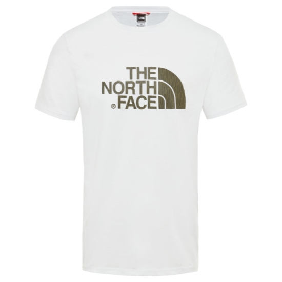 The North Face Easy Tee - TNF White/Burnt Olive Green