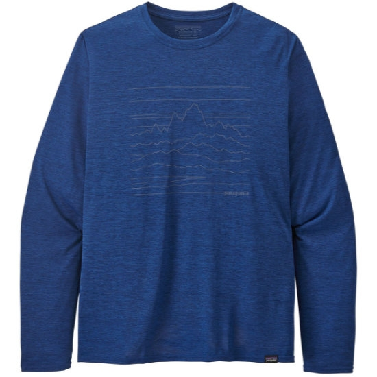 Patagonia Long-Sleeved Capilene® Cool Daily Graphic Shirt - Up high Endurance/Superior Blue X-Dye