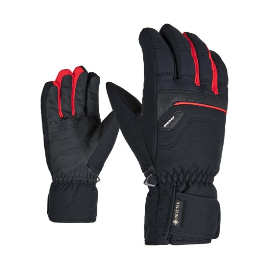 Ziener Glyn GTX + Gore Plus Warm - Black/Red