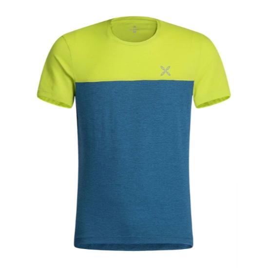 Montura Outdoor 20 T-Shirt - Blu Ottanio/Verde Lim