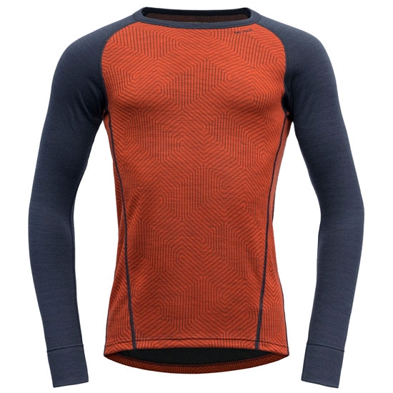 Devold Duo Active Man Shirt - Brick/Ink