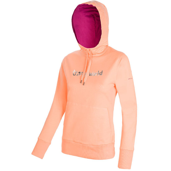 Trangoworld Watercolour Hoodie W - Salmon