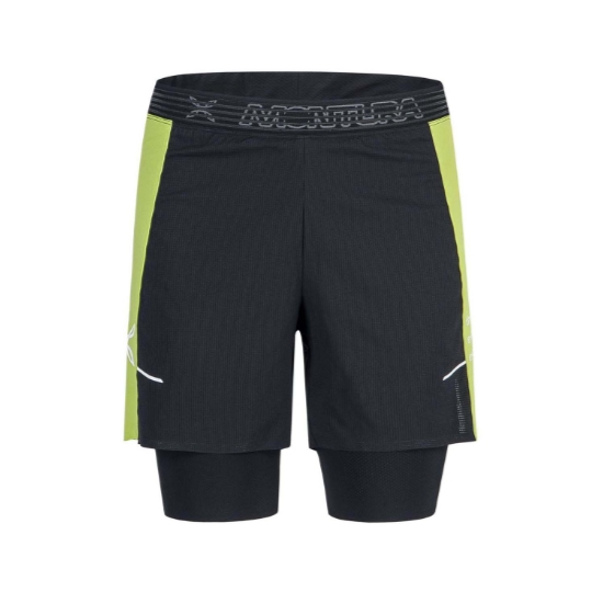 Montura Run K Short -  Nero/Verde Lime