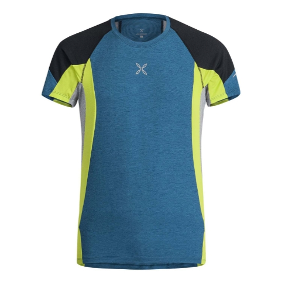 Montura Run Energy T-Shirt - Blu Ottanio/Lime
