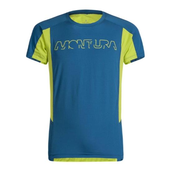 Montura Run Logo T-Shirt - Blue/Green F