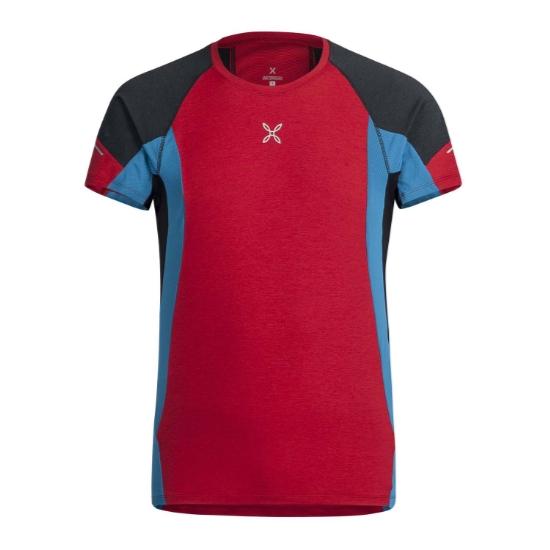 Montura Run Energy T-Shirt - Rosso/Blu