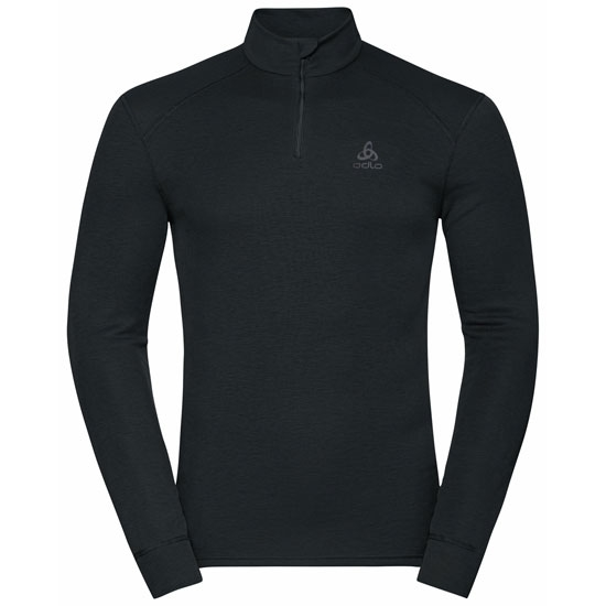 Odlo Active Warm Eco Half-Zip Turtleneck Baselayer Top - Black