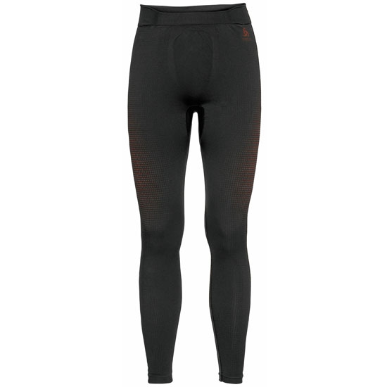 Odlo Performance Warm Eco Baselayer Pants - Black/Orange