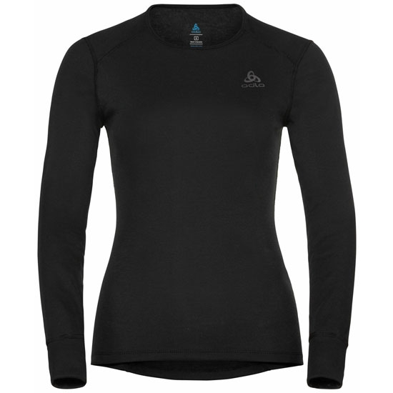 Odlo Active Warm Eco Long Sleeve Baselayer Top W - Black