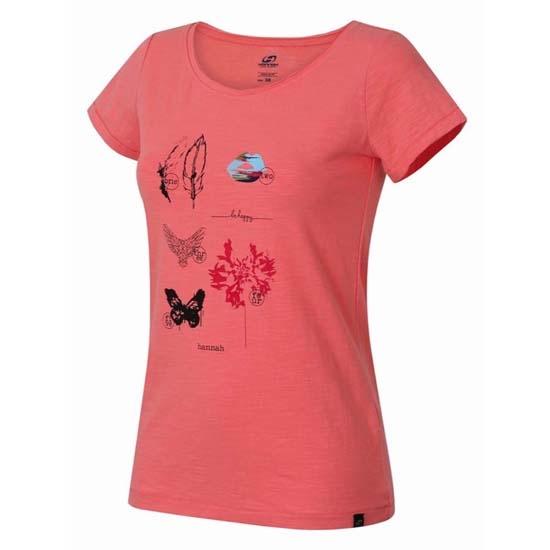 Hannah Karmela T-Shirt W - Salmon Rose