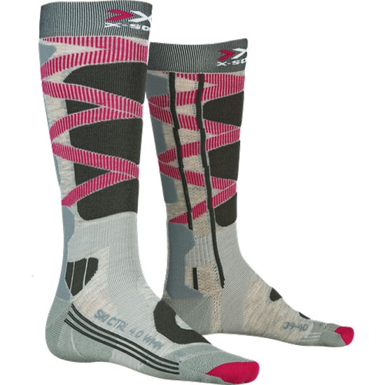 Xsocks Ski Control 4.0 W - Grey Mel/Charcoal