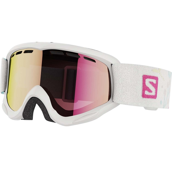 Salomon Juke Kids - White/Univ Ruby