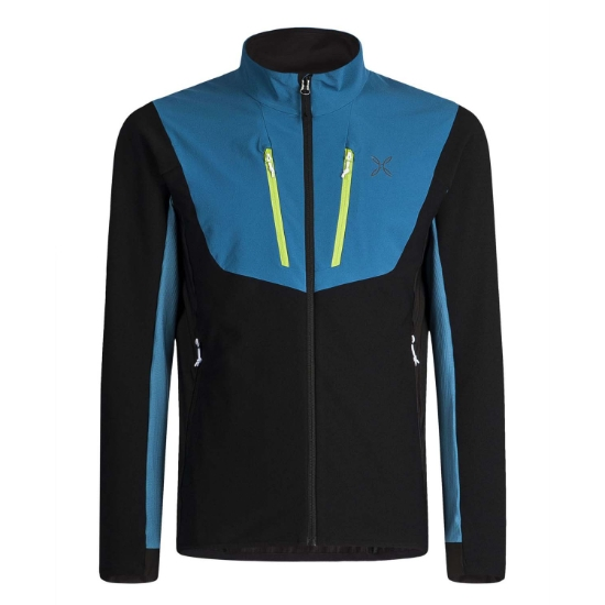 Montura Stretch Pro 2.0 Jacket - Nero/Blu Ottanio