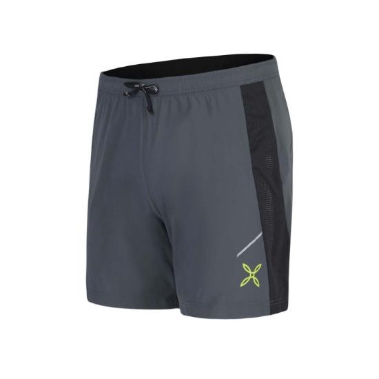 Montura Run Fast 2 Shorts -  Piombo/Verde Acido