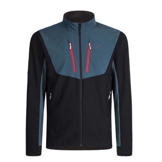 Montura Stretch Pro 2.0 Jacket - Nero/Blu Cenere