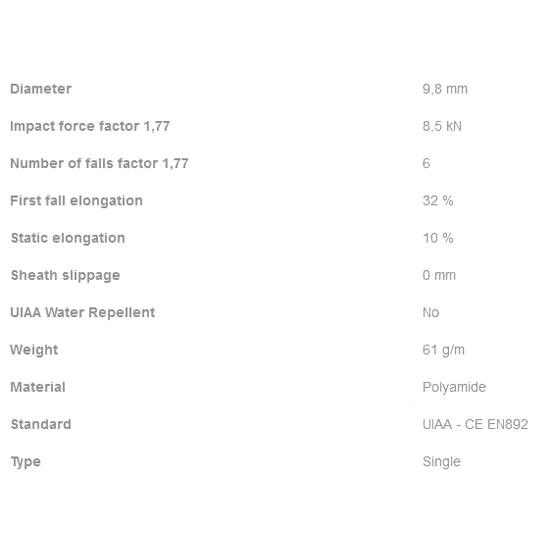 Edelweiss Stonelight 9.8mm x 80m - Detail Foto