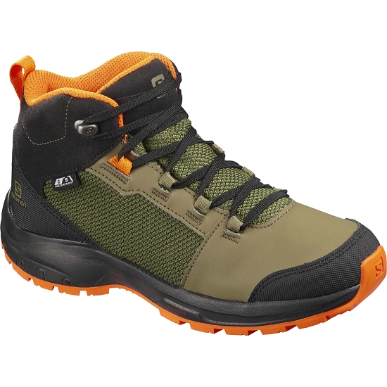 Salomon Outward Cswp Jr - Burnt Oliv/Bk/Exube