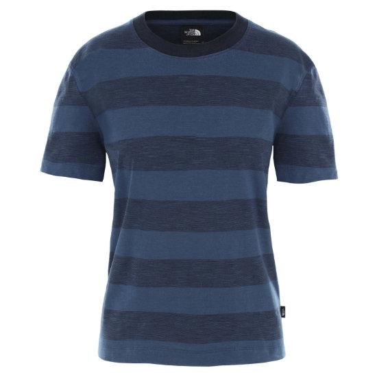 The North Face Stripe Knit Top W - Urban Navy Boulder Stripes