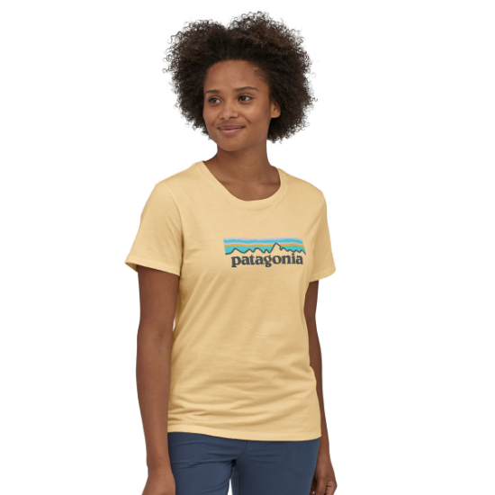 Patagonia Pastel P-6 Logo Organic Crew T-Shirt W - Photo of detail