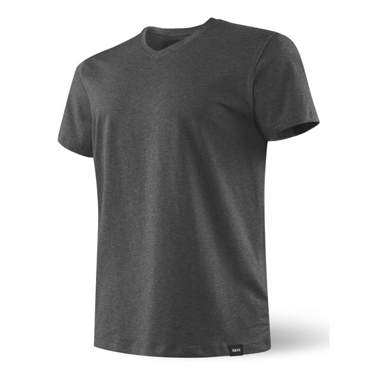Saxx 3Six Five SS V Neck - Heather