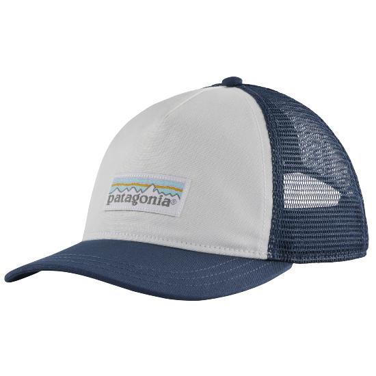 Patagonia Pastel P-6 Label Layback Trucker W - White/Stone Blue