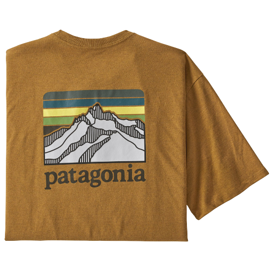 Patagonia Line Logo Ridge Pocket Responsibili-Tee - Buckwheat Gold