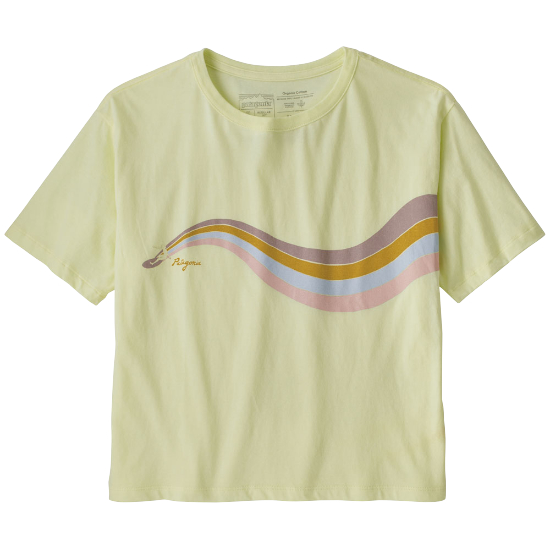 Patagonia Psychedelic Slider Organic Easy-Cut Tee W - Isla Yellow