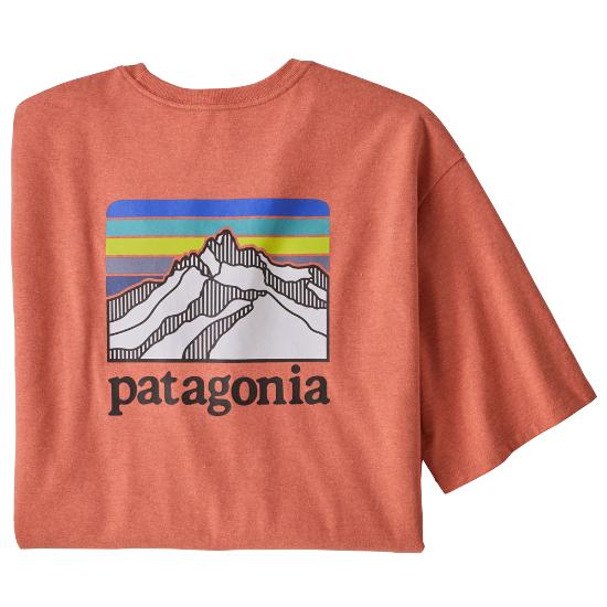 Patagonia Line Logo Ridge Pocket Responsibili Tee - Coho Coral