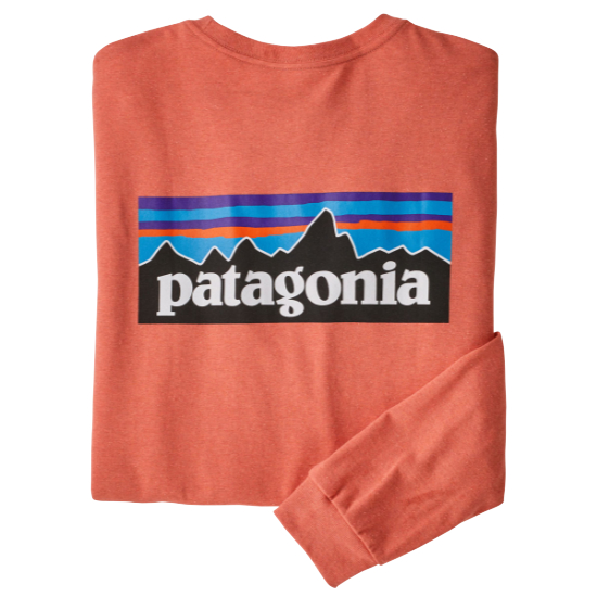 Patagonia Long-Sleeved P-6 Logo Responsibili-Tee - Coho Coral
