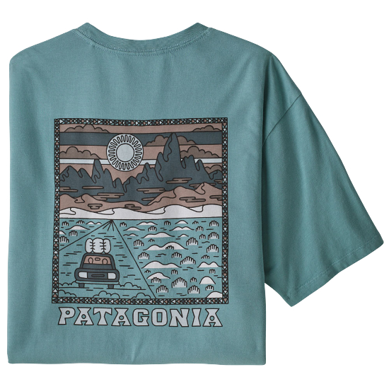 Patagonia Summit Road Organic T-Shirt - Upwell Blue